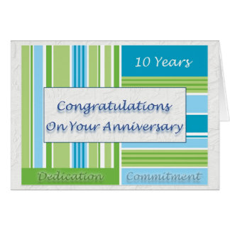 Employee 10th Anniversary Greeting Card