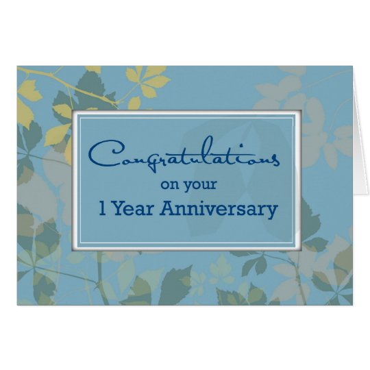 Employee 1 Year Anniversary, Congratulations Card