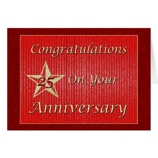 Employee 25th Anniversary Gold Star Card