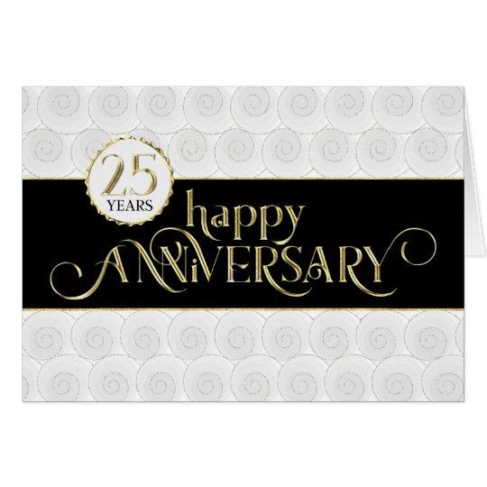 Employee 25th Anniversary - Prestigious Black Gold Card