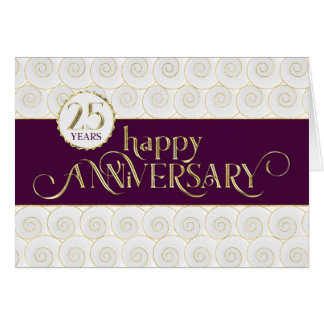 Employee 25th Anniversary - Prestigious Plum Gold Card