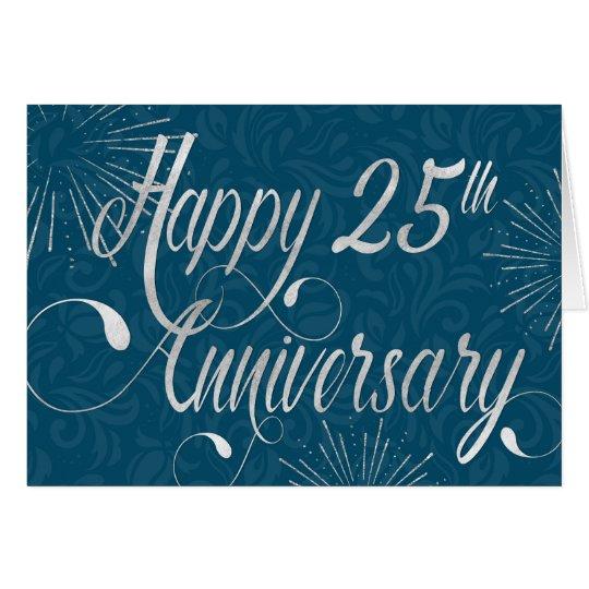 Employee 25th Anniversary - Swirly Text - Blue