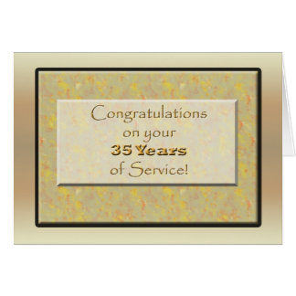 Employee 35 Years of Service or Anniversary Greeting Card