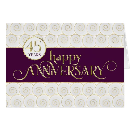 Employee 45th Anniversary - Prestigious Plum Gold Card