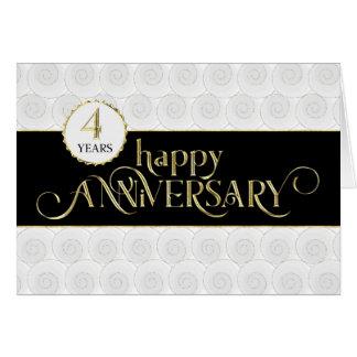 Employee 4th Anniversary - Prestigious Black Gold Card