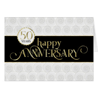 Employee 50th Anniversary - Prestigious Black Gold Card