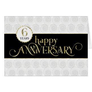 Employee 6th Anniversary - Prestigious Black Gold Card