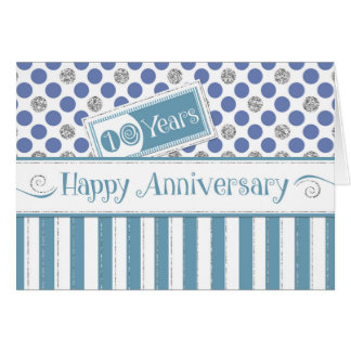Employee Anniversary 10 Years Jade Blue Card