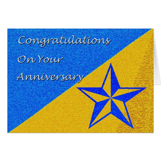 Employee Anniversary Blue Star Card