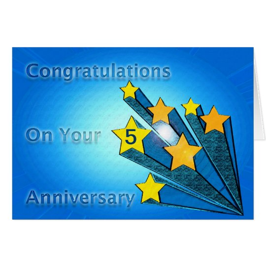 Employee Anniversary Customisable Shooting Stars Card