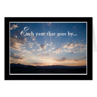 Employee Anniversary, Landscape Sky Greeting Card