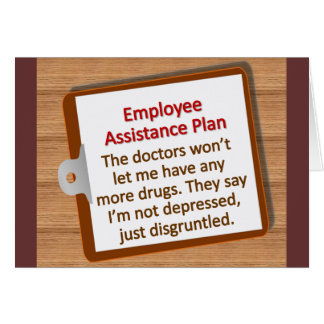Employee Assistance Plan Note Card