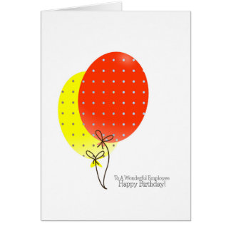 Employee Birthday Cards, Big Colourful Balloons Card