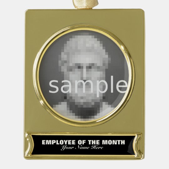 Employee of the month appreciation photo ornament gold