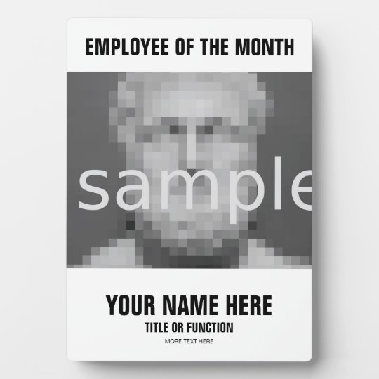 Employee of the month appreciation photo plaque