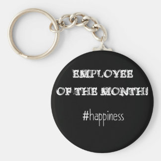Employee Of The Month! Basic Round Button Key Ring