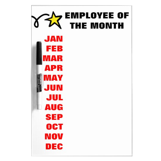 Employee of the month calendar dry erase board
