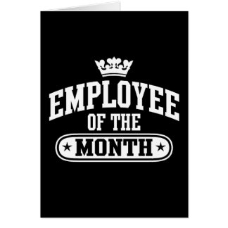 Employee Of The Month Greeting Cards