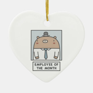 Employee Of The Month Ceramic Heart Decoration