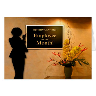 Employee of the Month Congratulations Greeting Card