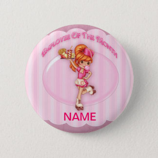 employee of the month customizable pin badge