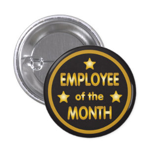 Employee of the Month Gold Stars 3 Cm Round Badge