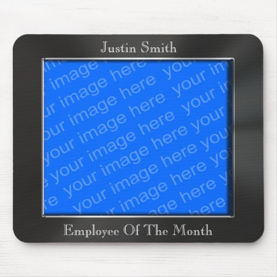 Employee Of The Month Photo Frame Mousepad Zazzle Co Uk