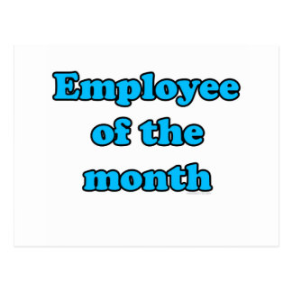 employee of the month post card