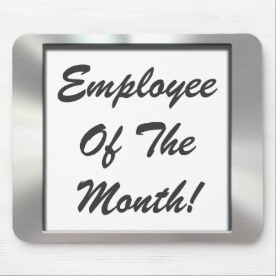 Employee Of The Month! Metal Look Frame Mousepad | Zazzle.co.uk