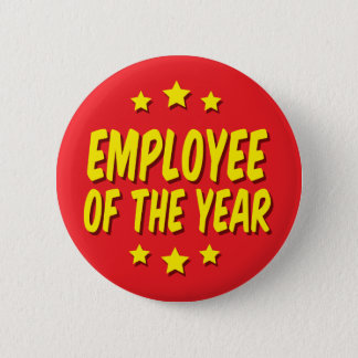 Employee of the year 6 cm round badge