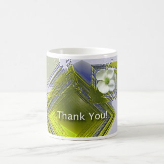 Employee Recognition Thank You Floral Basic White Mug