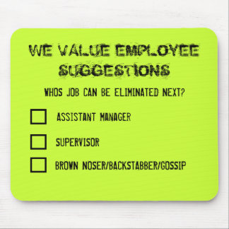 Employee Suggestions Mousemat
