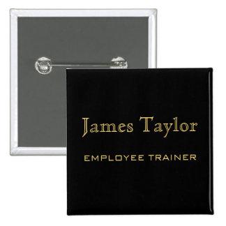 Employee Trainer Black Gold 15 Cm Square Badge