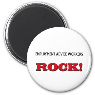 Employment Advice Workers Rock Fridge Magnet