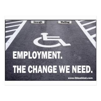 Employment Disabilities Postcard