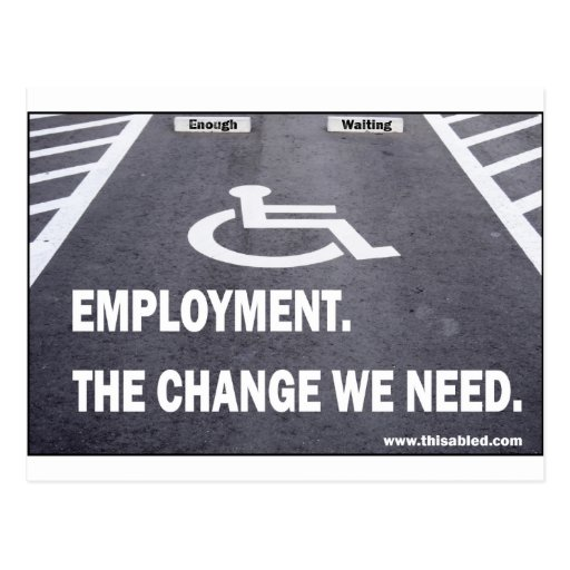 Employment Disabilities Postcards