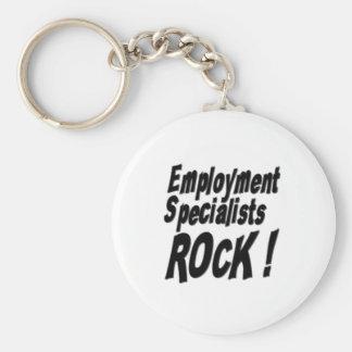 Employment Specialists Rock! Keychain