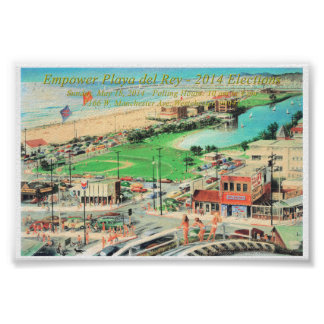 Empower Playa del Rey – 2014 ¼ Inch Border Poster