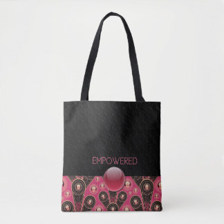 EMPOWERED - Black, Salmon - Handbag