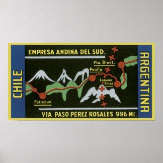 Empresa ANdina Del Sud, Chile, Argentina Poster