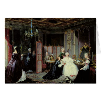 Empress Catherine the Great  receiving a Card