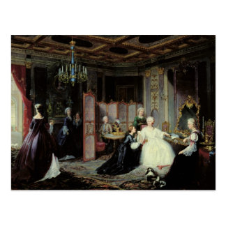 Empress Catherine the Great  receiving a Postcard