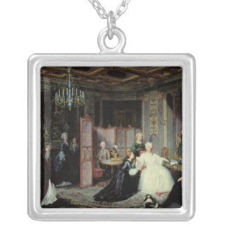 Empress Catherine the Great  receiving a Silver Plated Necklace