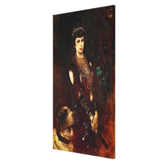 Empress Elizabeth of Austria, 1883 Canvas Print