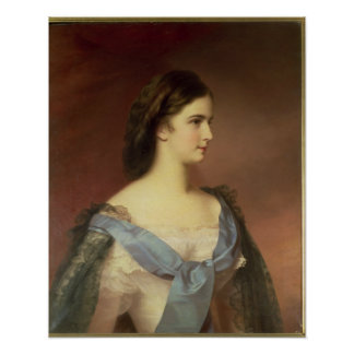 Empress Elizabeth of Bavaria  as a young woman Poster