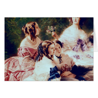 Empress Eugenie  and her Ladies in Waiting Card