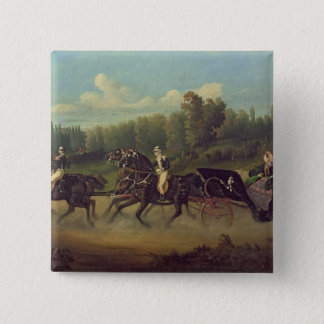 Empress Eugenie  and Queen Victoria  in the 15 Cm Square Badge