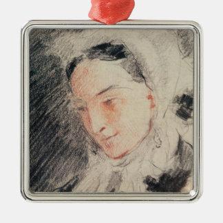 Empress Eugénie (black & red chalk) Christmas Ornament