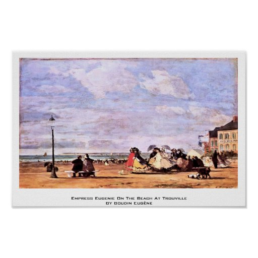 Empress Eugenie On The Beach At Trouville Print