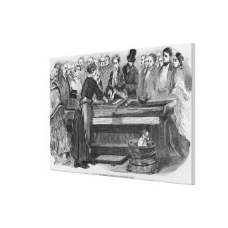 Empress Eugenie silvering a mirror Stretched Canvas Print